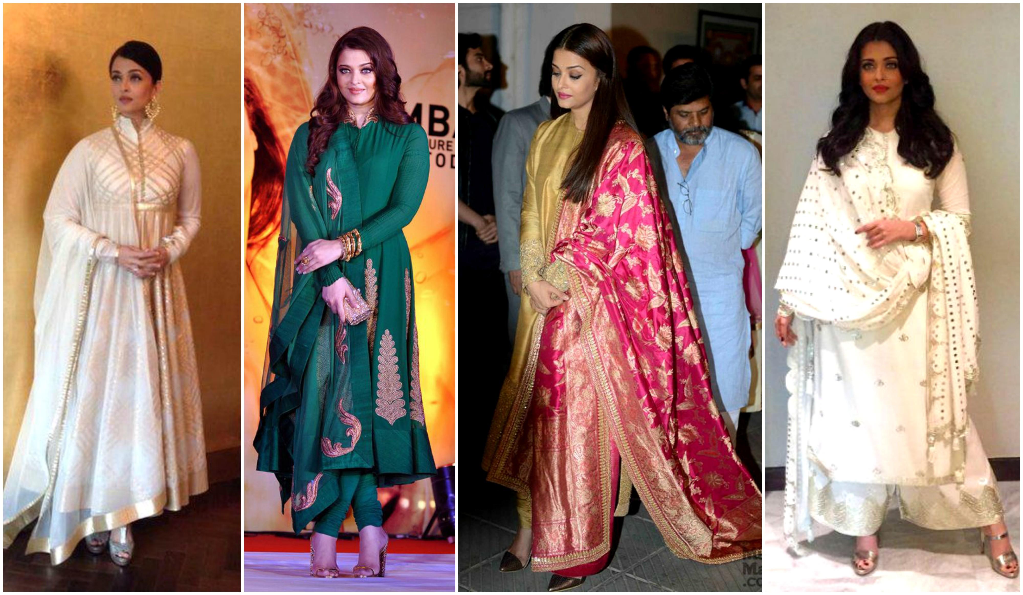 Aishwarya Rai in silk salwar suit