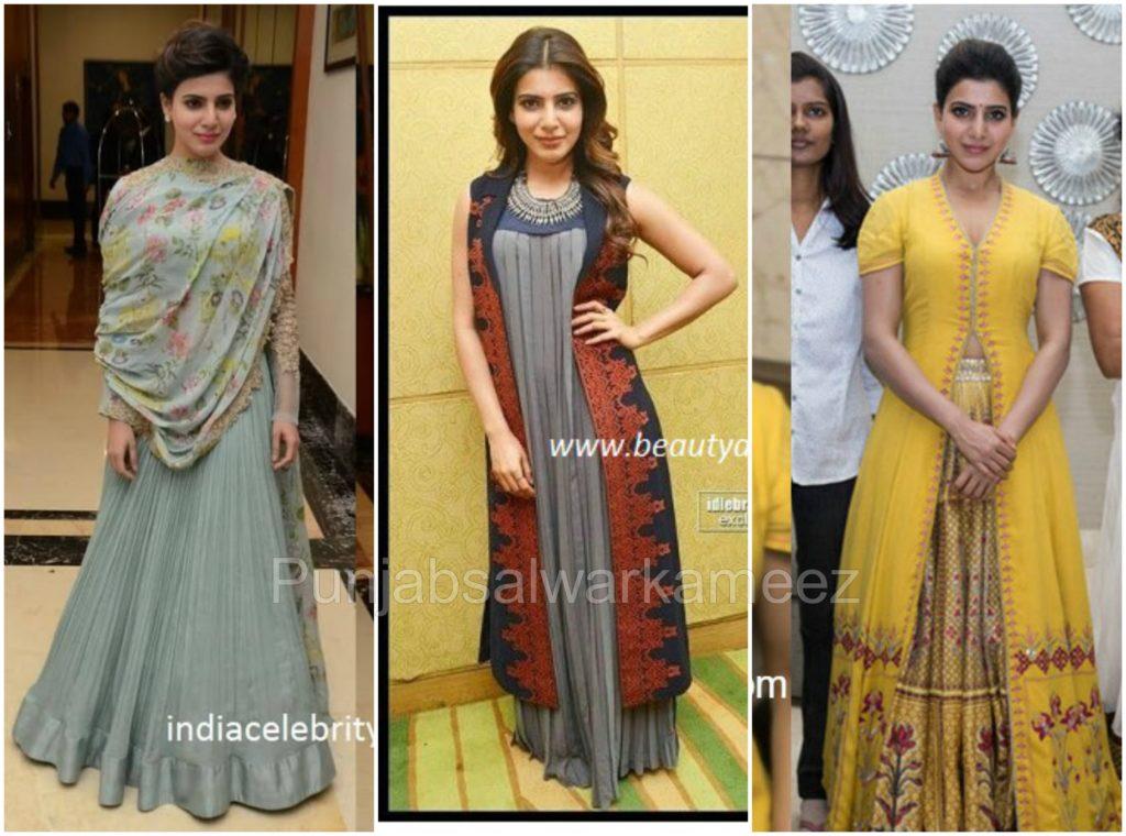 Samantha Ruth Prabhu in Salwar Kameez, south indian actresses trends, salwar suit trends in salwar kameez, samantha ruth prabhu style