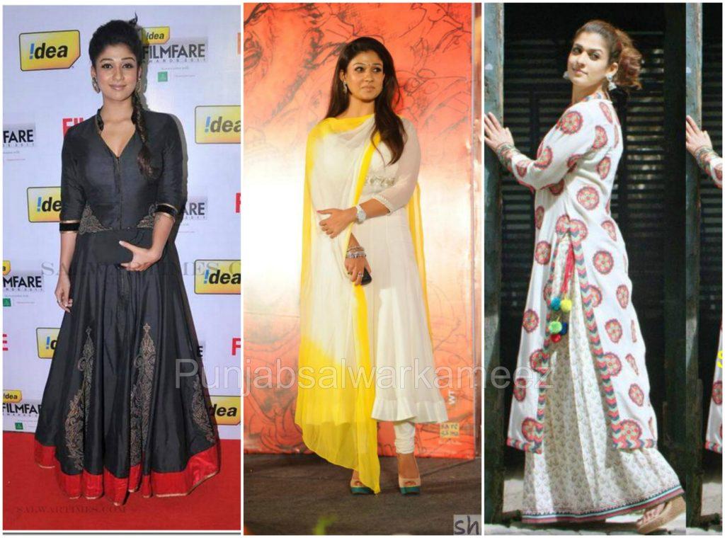 Nayantara in Salwar Kameez, south indian actresses trends, salwar suit trends in salwar kameez, nayantara style