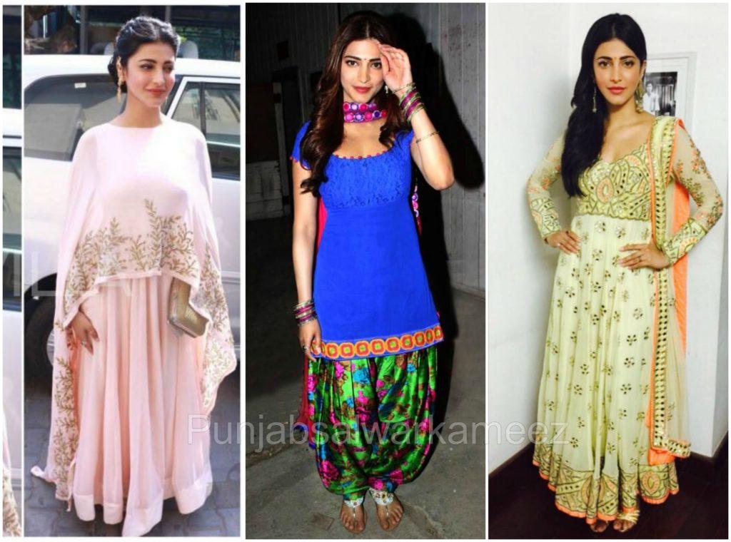 Shruti Hassan in Salwar Kameez, South indian actress in salwar kameez, shruti hassanl style,