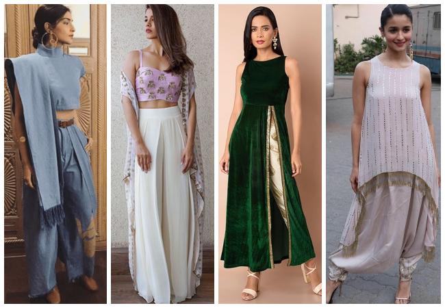 Chikankari Plazzo Suits Embroidery Worked Pakistani Regular Wear Shalwar Kameez Suits Ready Made Simple Printed Cotton Shalwar Plazzo Dress